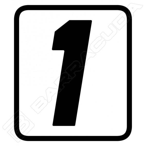 adesivi tabella porta numero barracuda