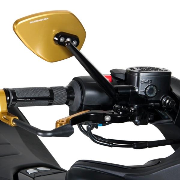 Adaptador de espejo tub/érculo para instalar en Yamaha 530 TMAX 2012-2013 sobre la defensa c/ódigo BS805B delantera color negro